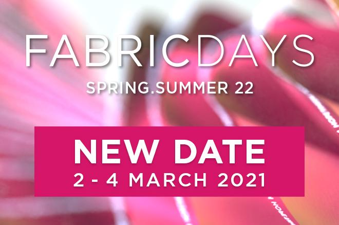 Fabric Days İlkbahar- Yaz  Edisyonu Ertelendi
